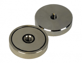 Neodymium Shallow Pot Magnet with Internal Thread