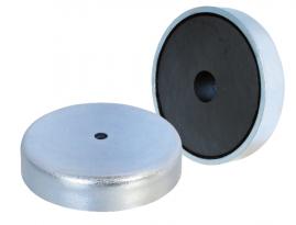 Ferrite Shallow Pot Magnets with mounting hole