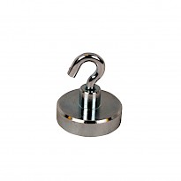 Neodymium Shallow Pot Magnets with a Hook